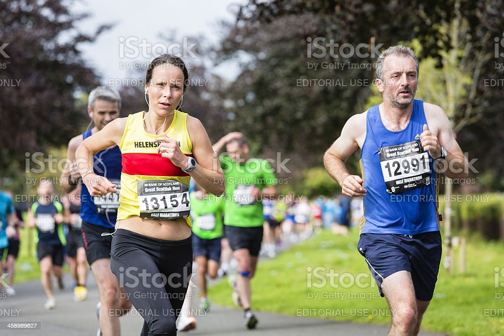 Half Marathon Runners royalty-free stock photo