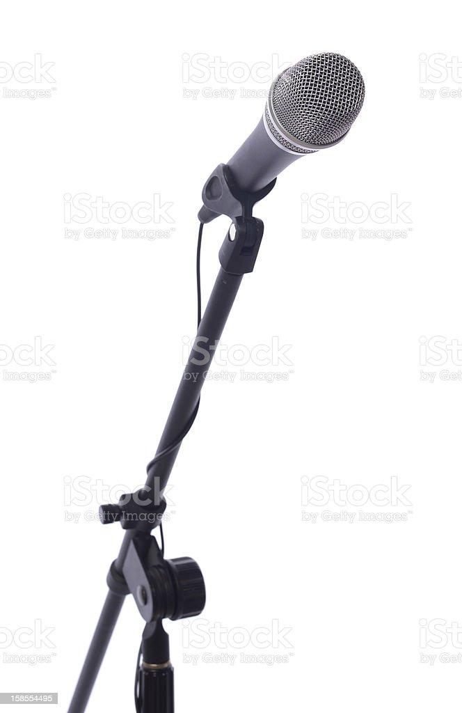 half mic stand stock photo