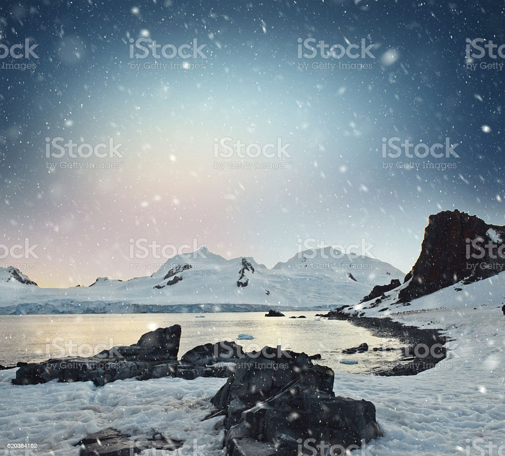 Half Moon Island Antarctica stock photo