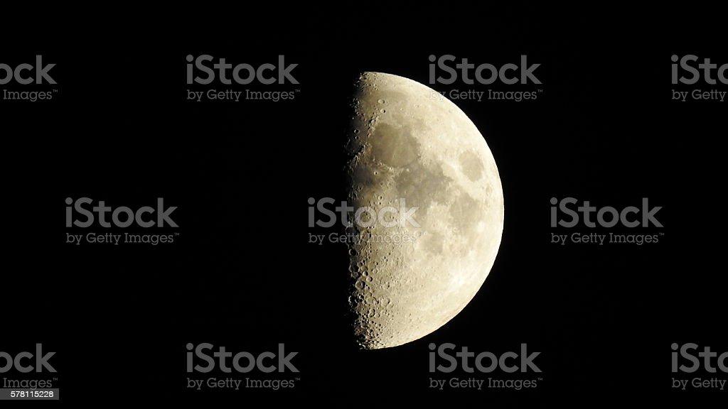 Half Moon Over Old Bridge, NJ stock photo