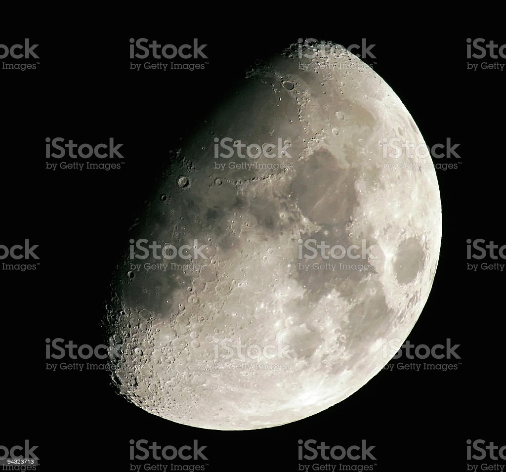 Half moon stock photo