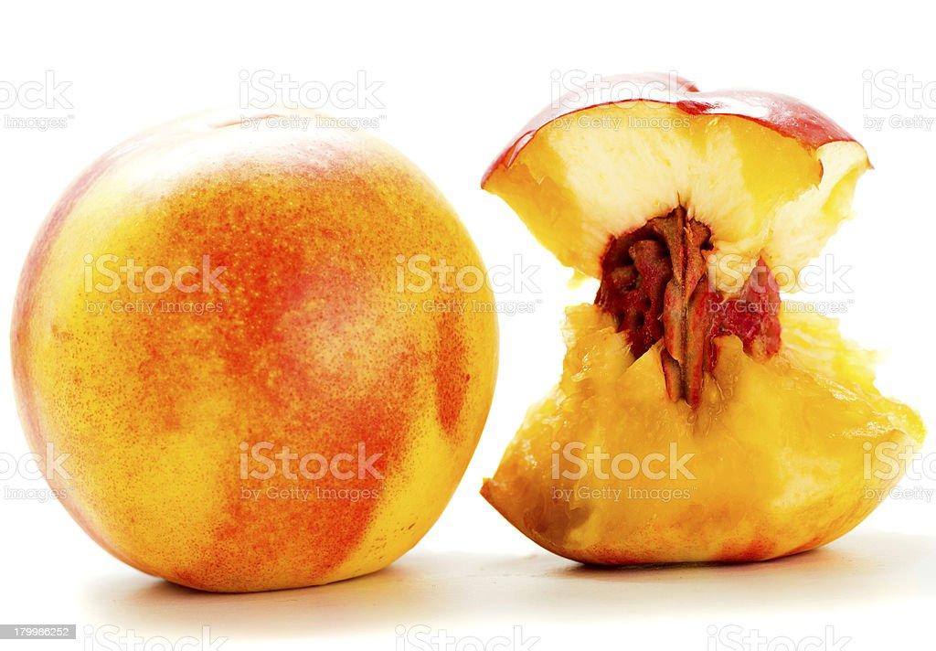 Half nectarine royalty-free stock photo