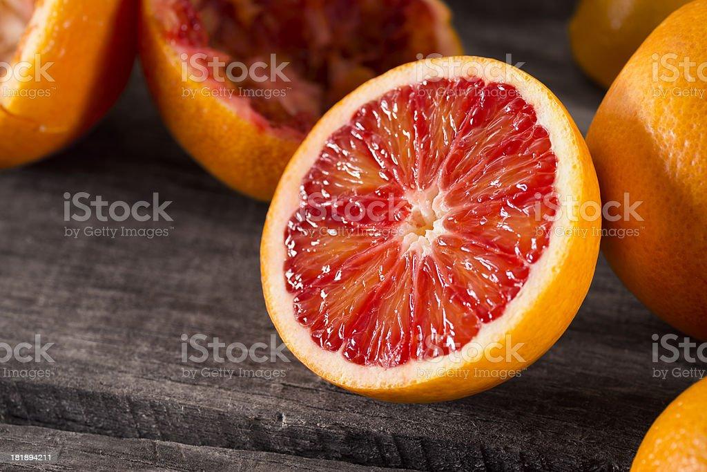 Half of a Blood Orange stock photo