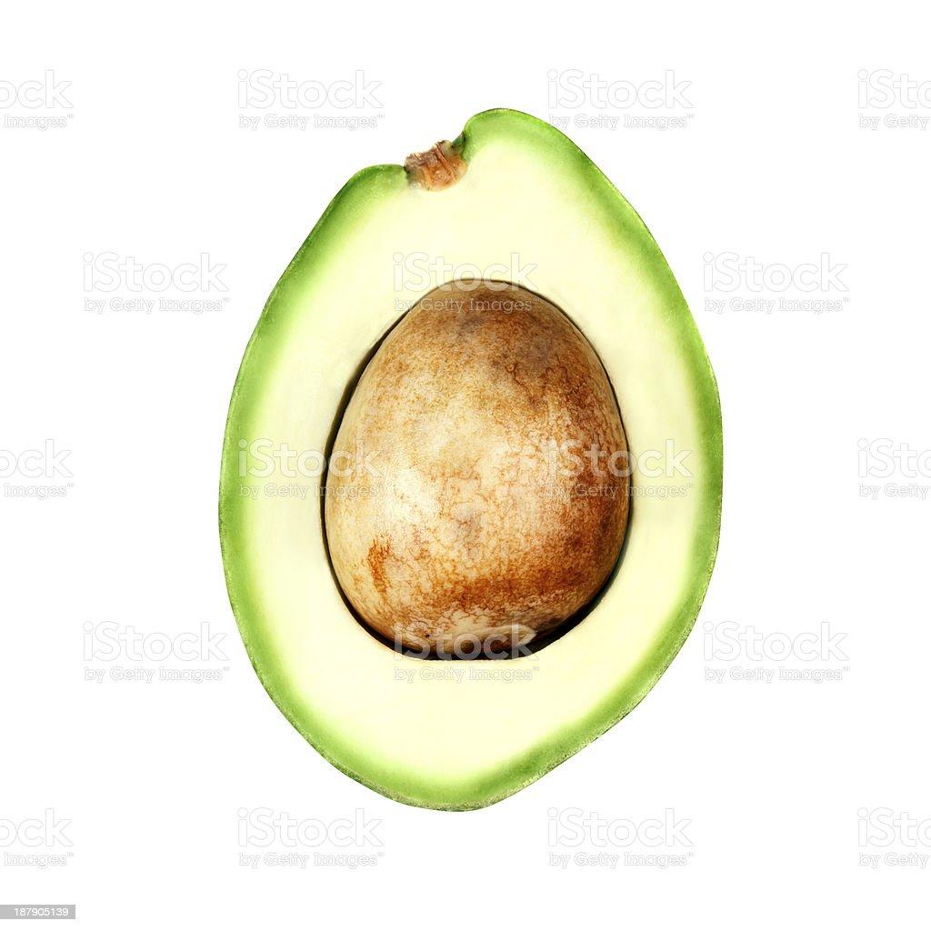 Half of avocado royalty-free stock photo