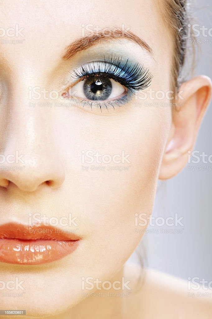 Half of face young woman royalty-free stock photo