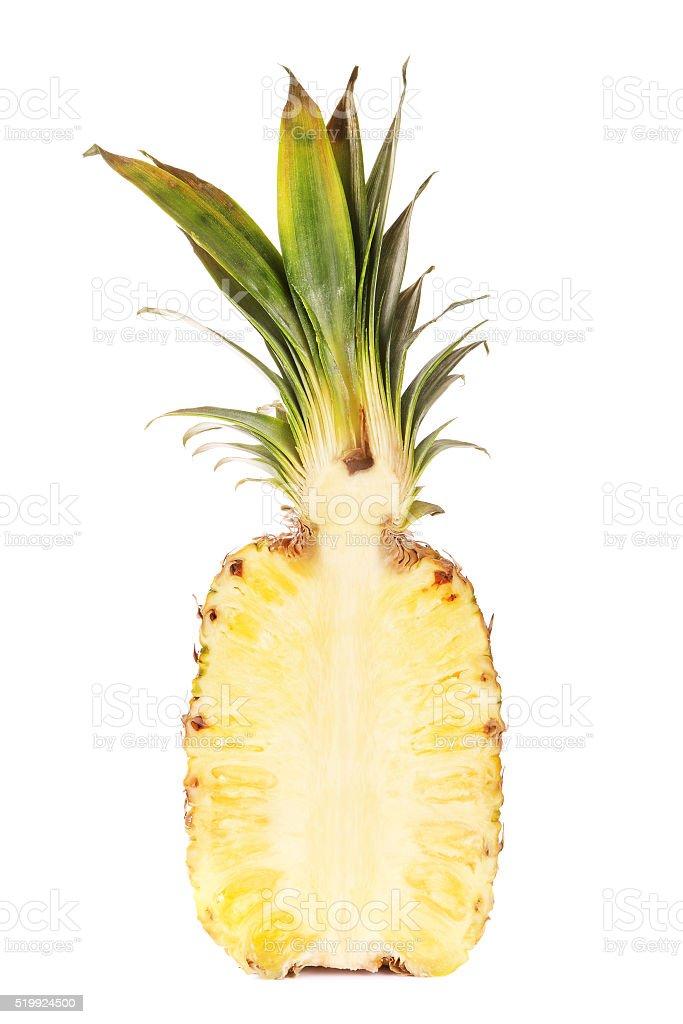 Half Of Fresh Juicy Pineapple stock photo