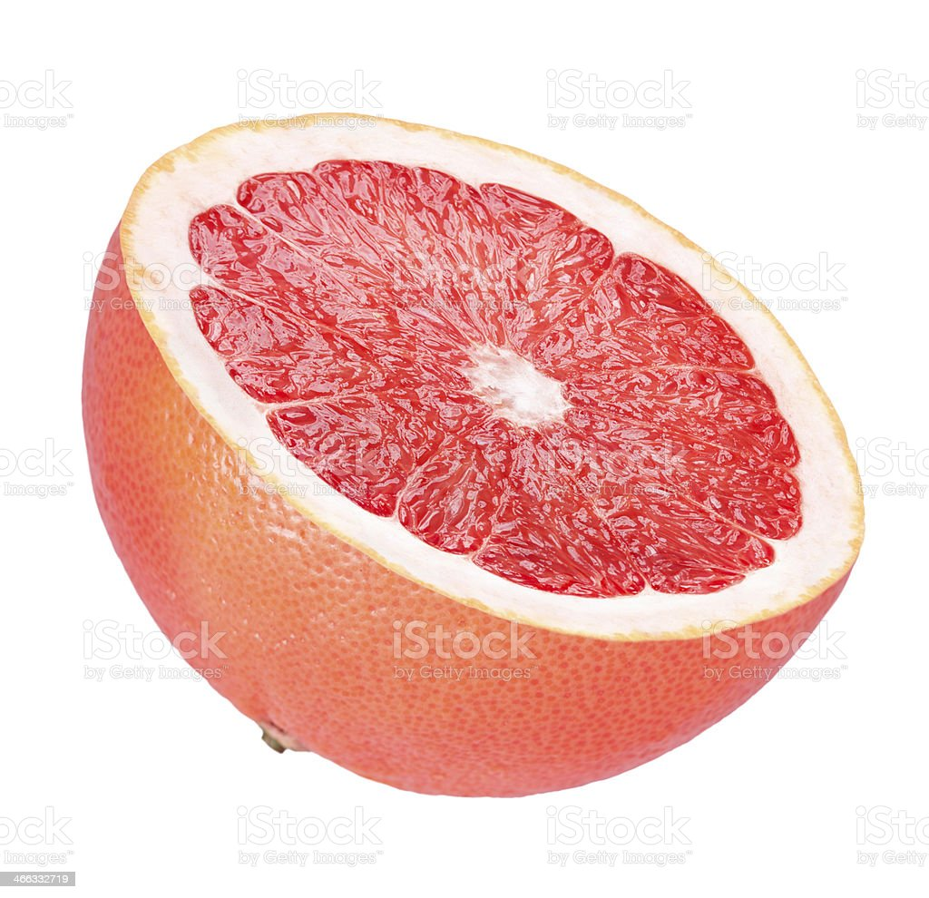 Half of grapefruit stock photo