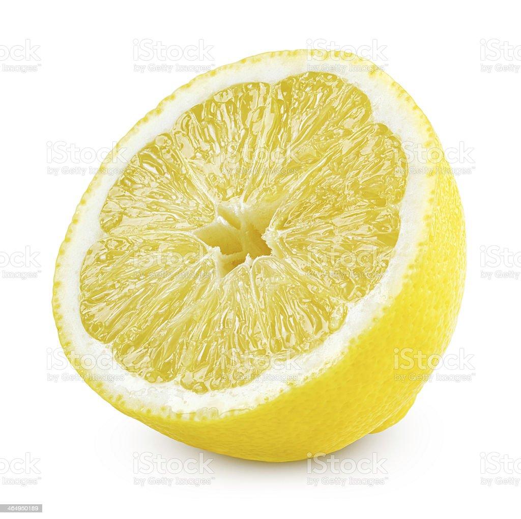 Half of lemon stock photo