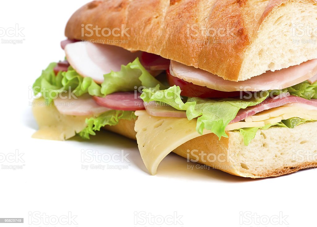 half of sandwich royalty-free stock photo