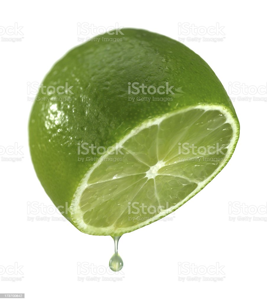 Half of the lime. royalty-free stock photo