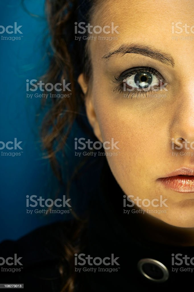 Half of Young Woman's Face, Portrait royalty-free stock photo