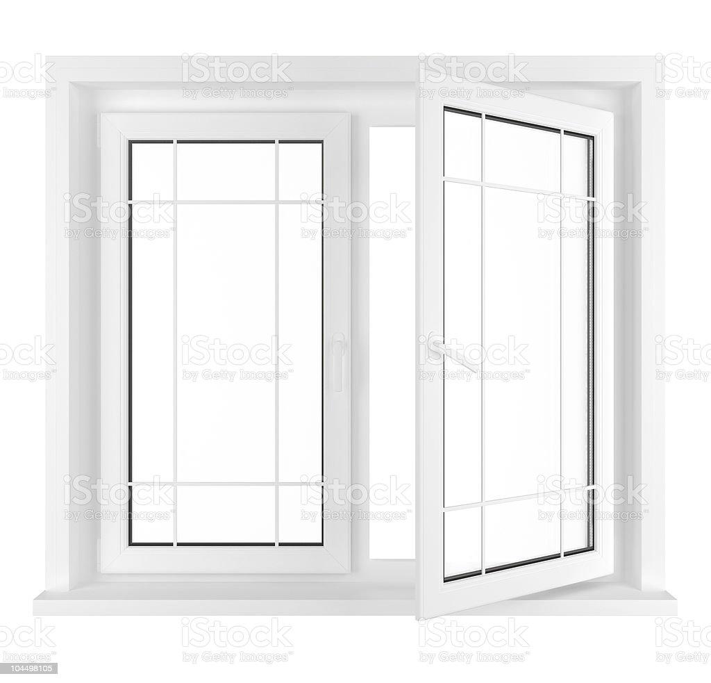 Half opened window royalty-free stock photo