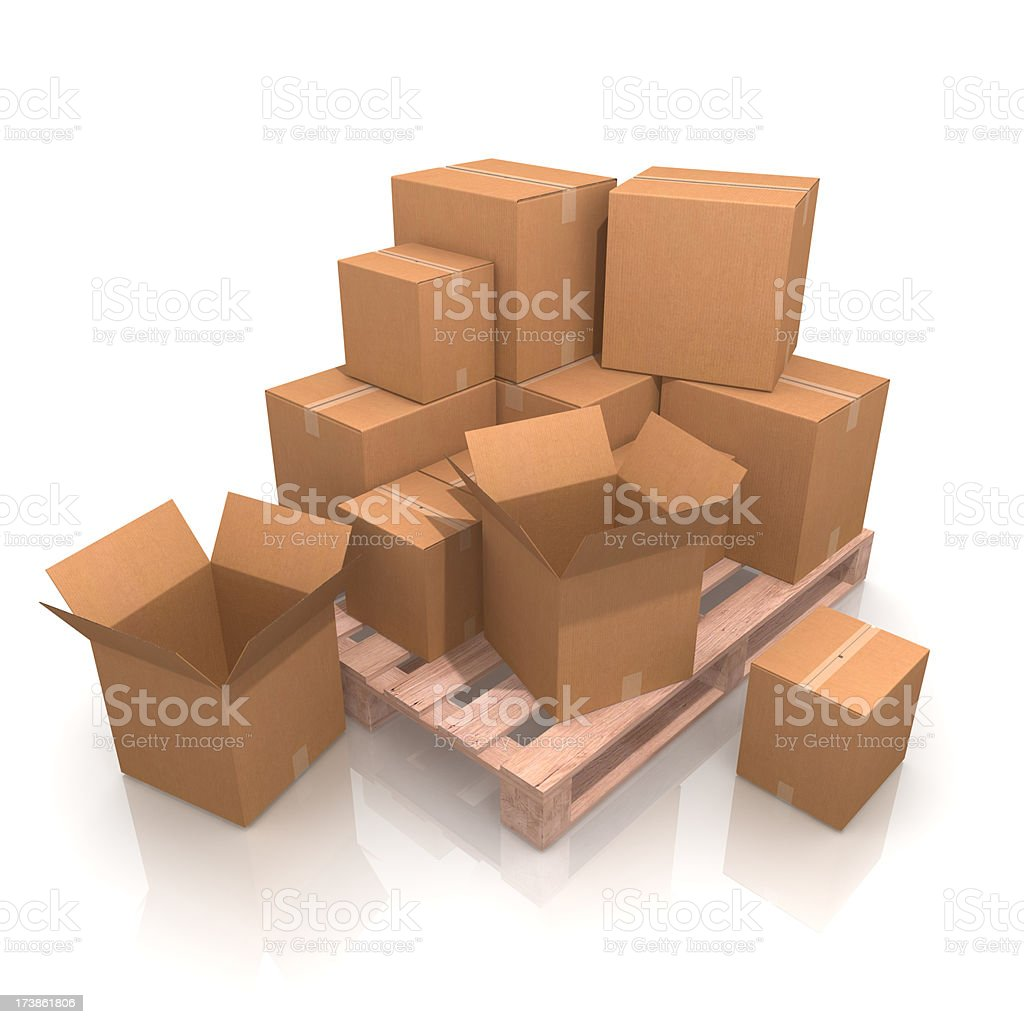Half Packed Pallet royalty-free stock photo