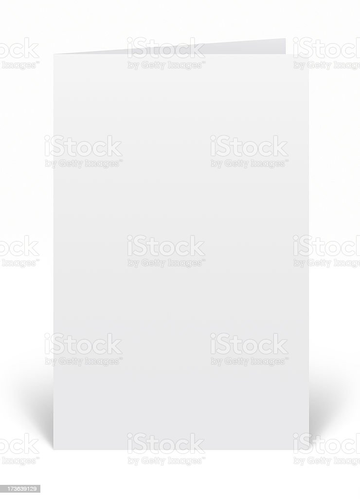 Half Page Booklet, Card or Brochure Template stock photo
