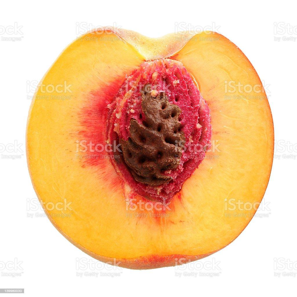 Half peach royalty-free stock photo