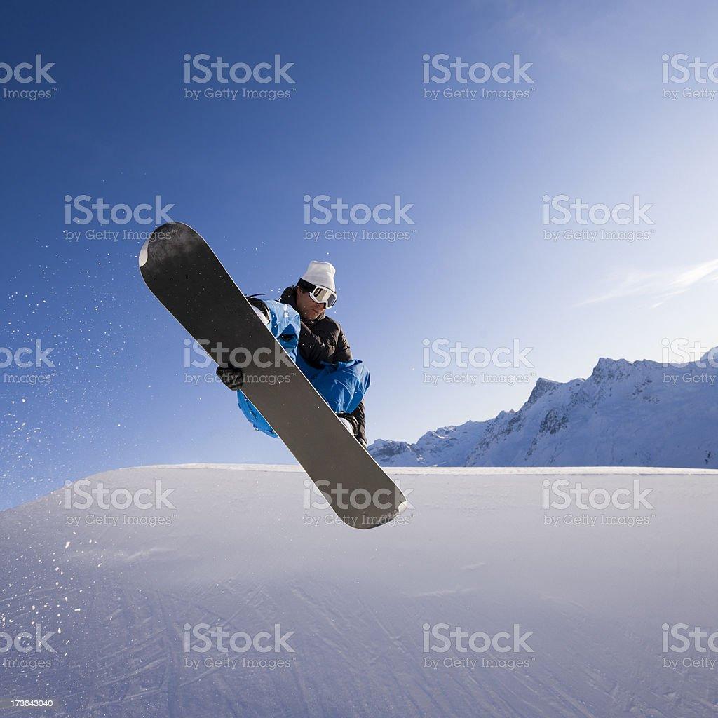 Half Pipe Snowboarding royalty-free stock photo