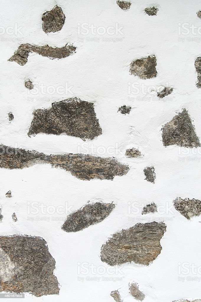 Half plastered white wall stock photo