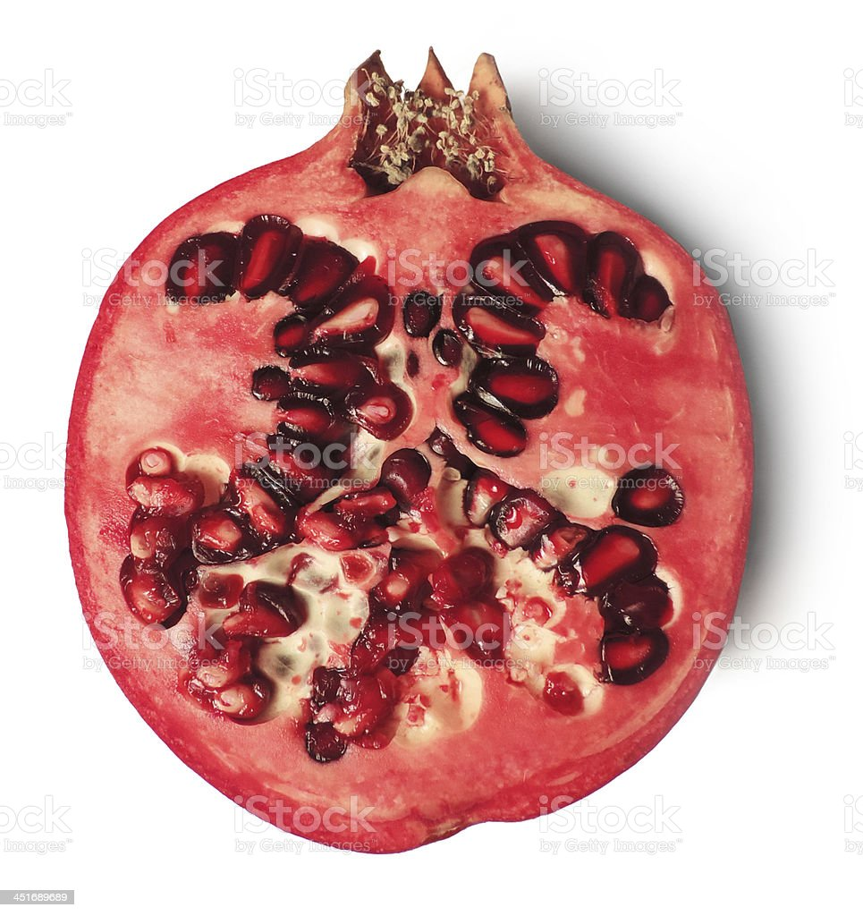half pomegranate stock photo