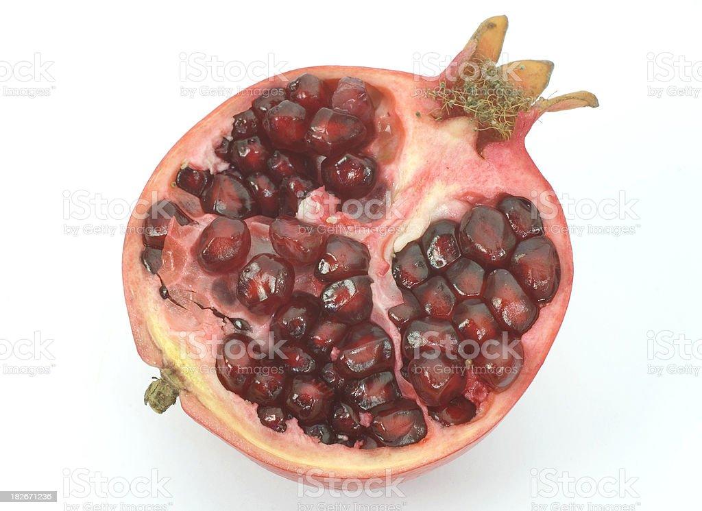 half pommegranate royalty-free stock photo