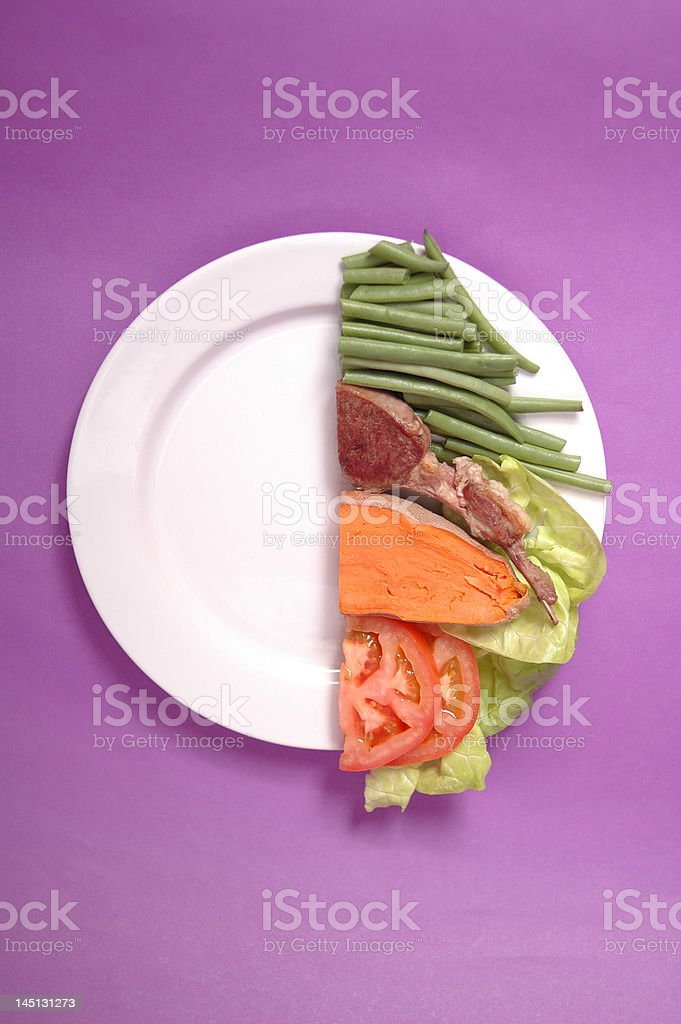 Half Portion stock photo