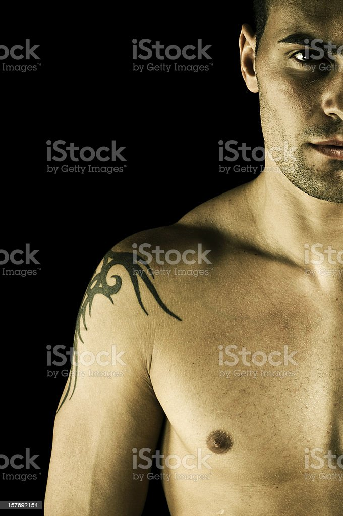 Half portrait of man royalty-free stock photo