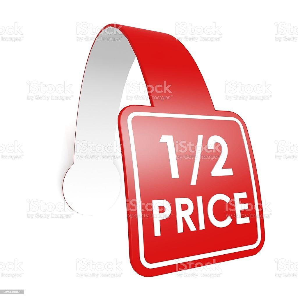 Half price hang label stock photo