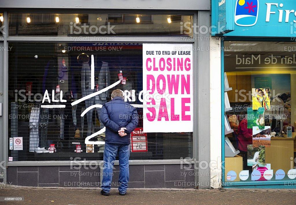 Half price sale - closing down royalty-free stock photo