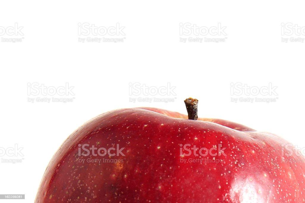half red apple royalty-free stock photo