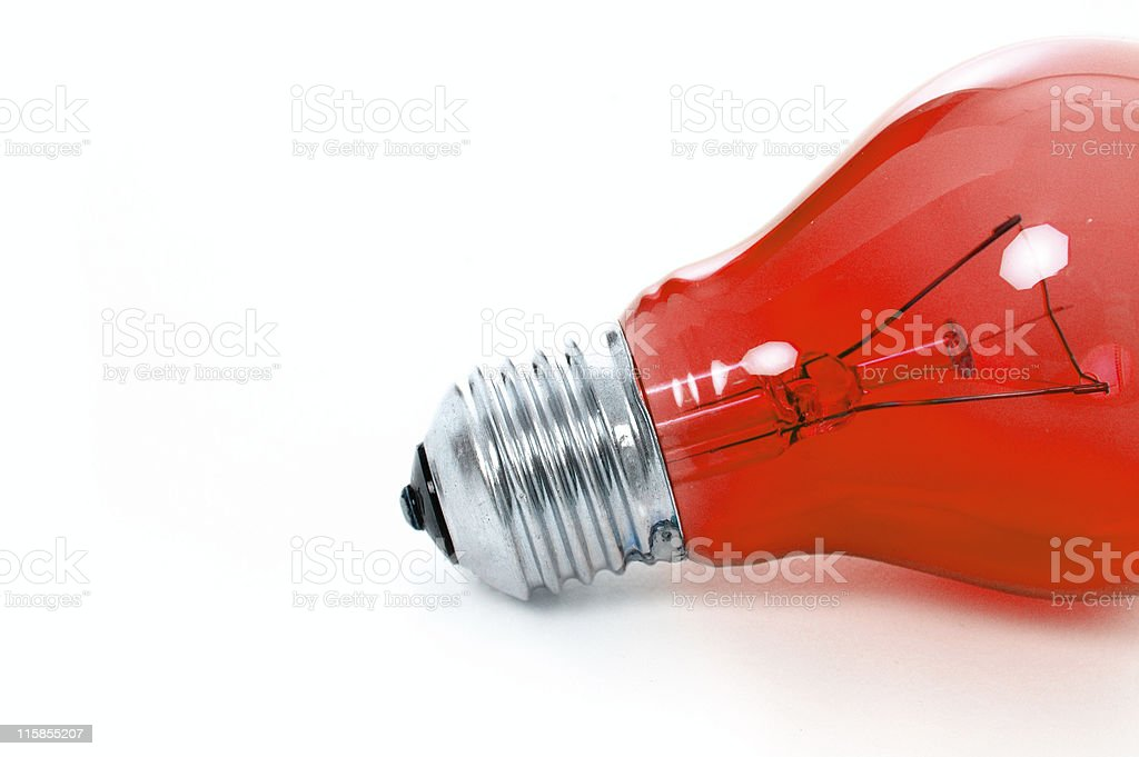 Half red royalty-free stock photo
