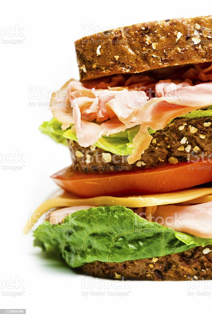 half sandwich up close XXL royalty-free stock photo