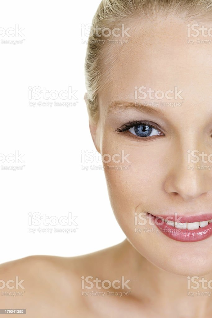 Half section of beautiful woman royalty-free stock photo