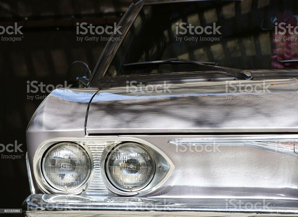 Half shot of a Vintage Automobile stock photo