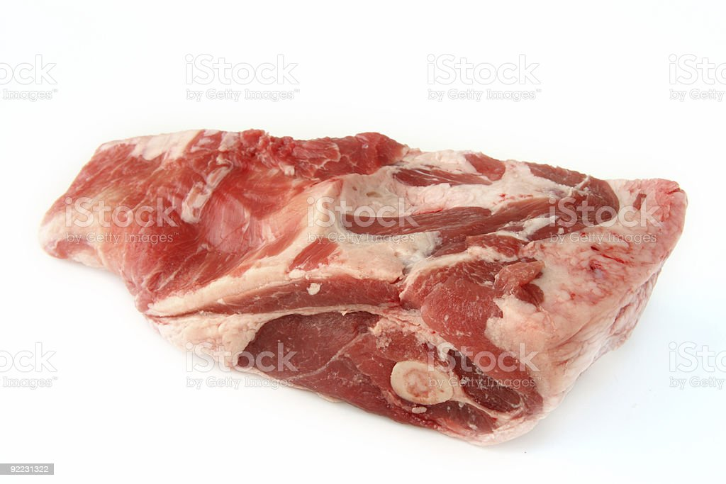 Half shoulder Lamb ideal for roasting royalty-free stock photo