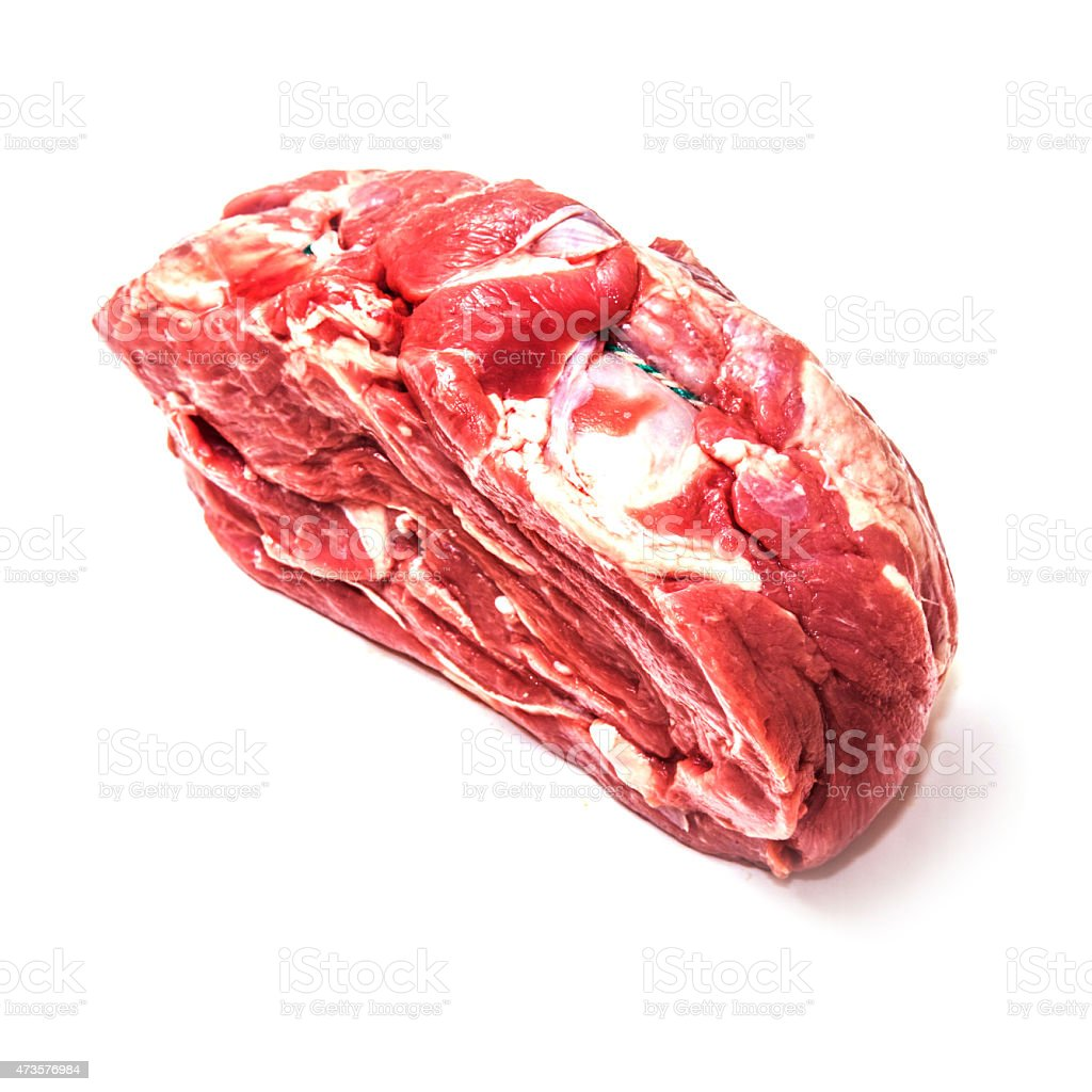 Half shoulder of lamb meat joint stock photo