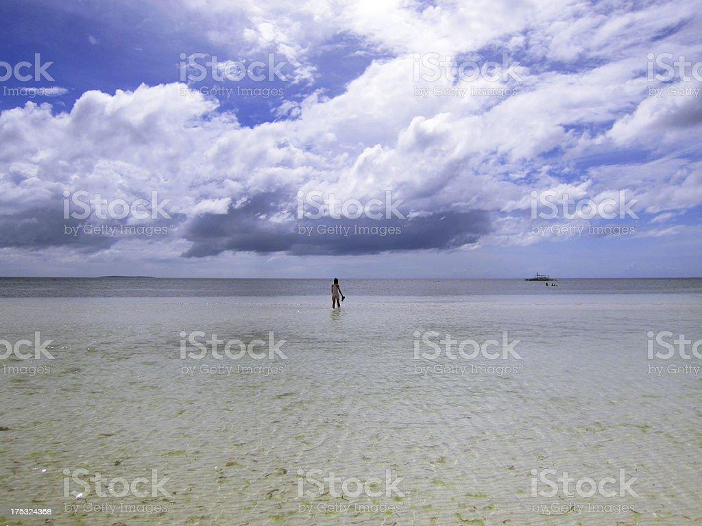 Half Sky and Land royalty-free stock photo