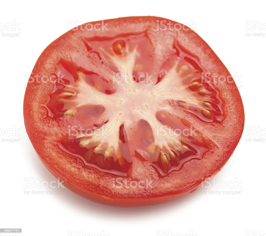 Half sliced tomato stock photo