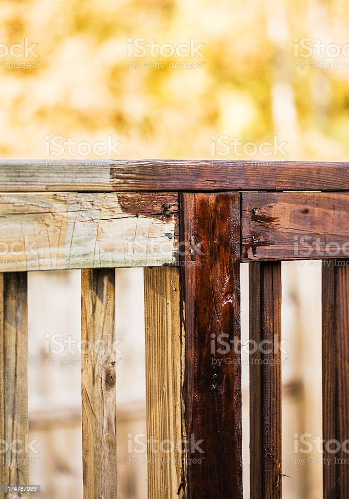 Half Stained Deck royalty-free stock photo