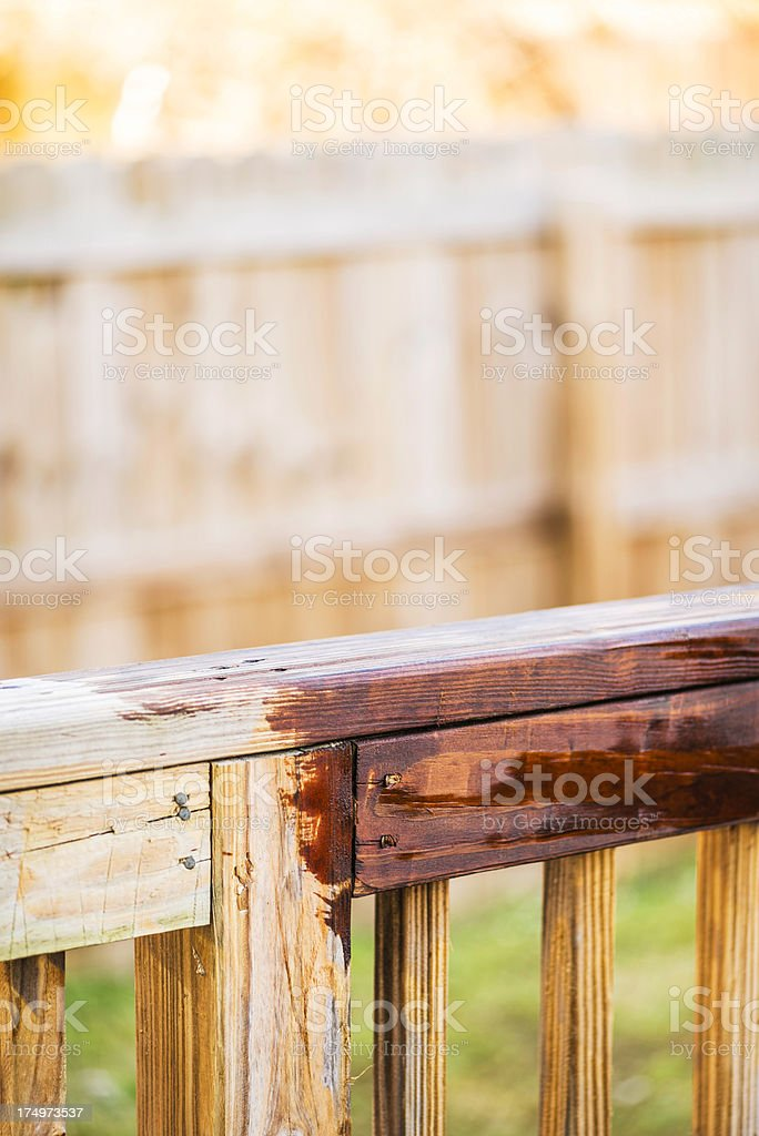 Half Stained Deck stock photo
