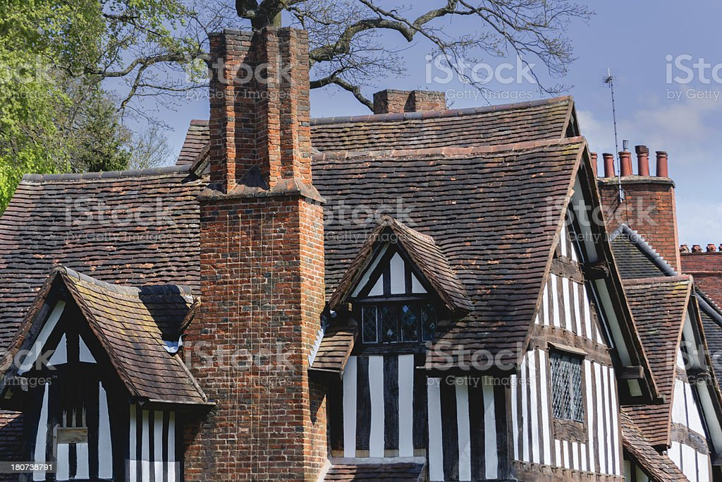 half timbered buildings royalty-free stock photo