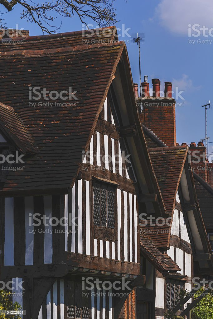 half timbered buildings stock photo