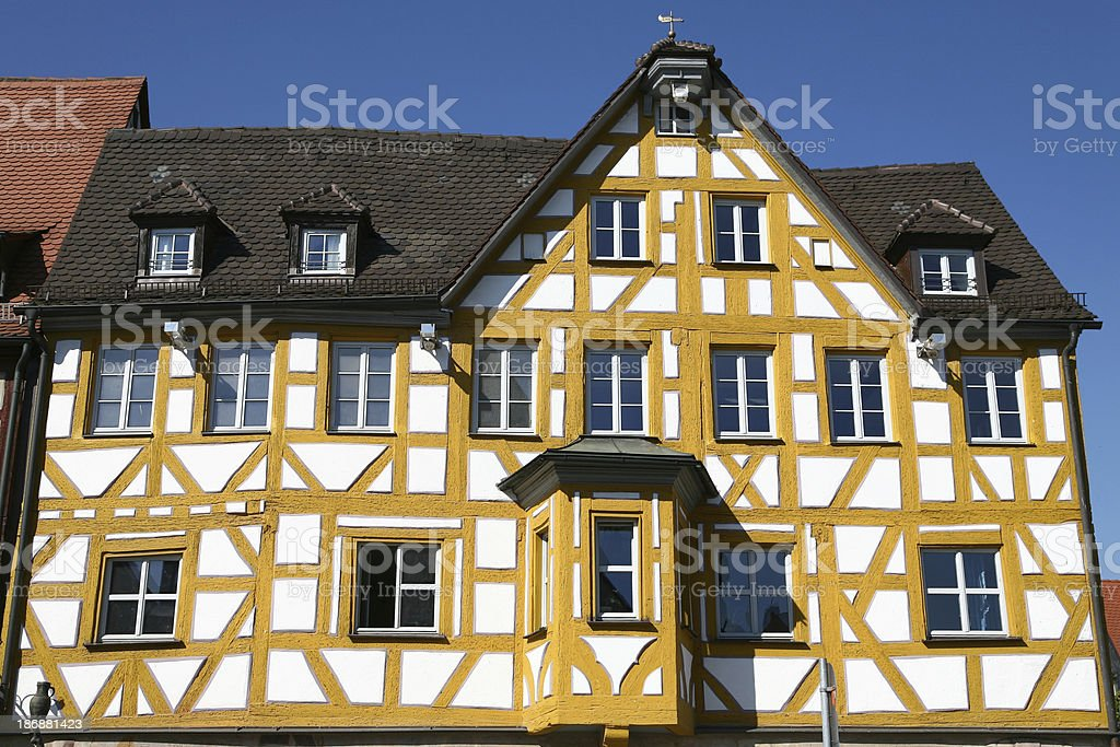 half timbered facade stock photo