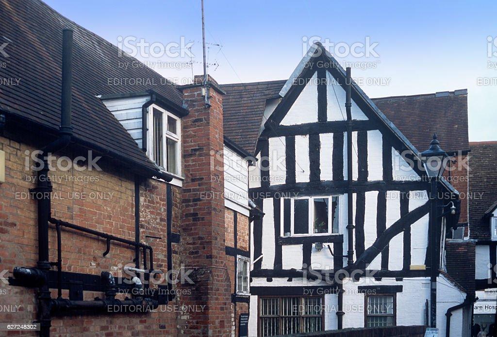 half timbered house stock photo