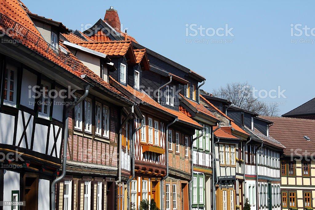 Half timbered houses stock photo