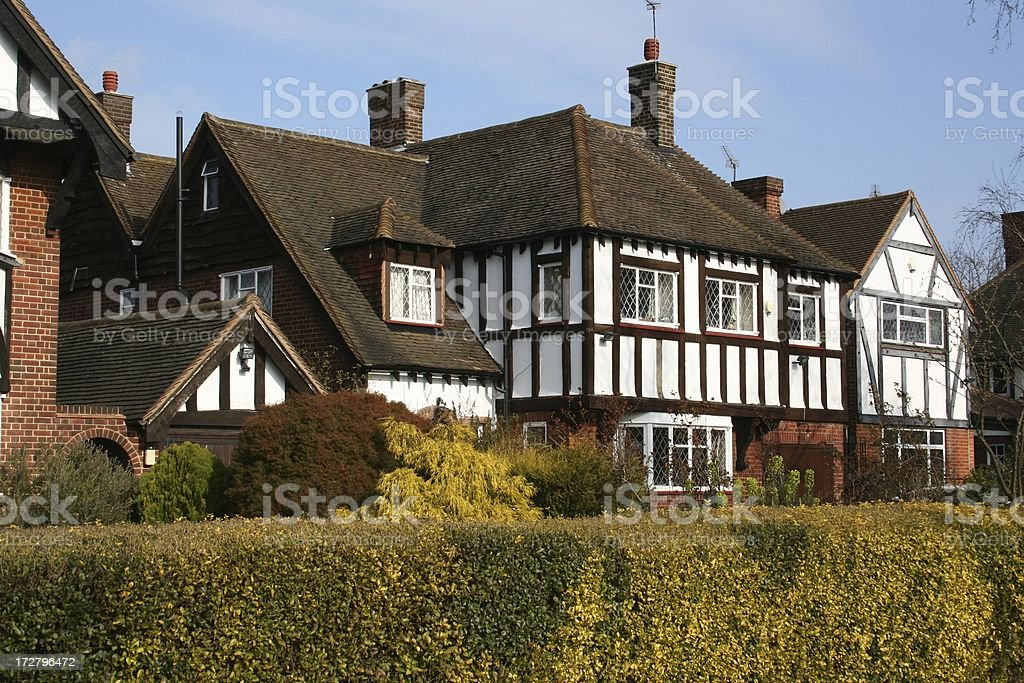 Half timbered Thirties London Houses royalty-free stock photo