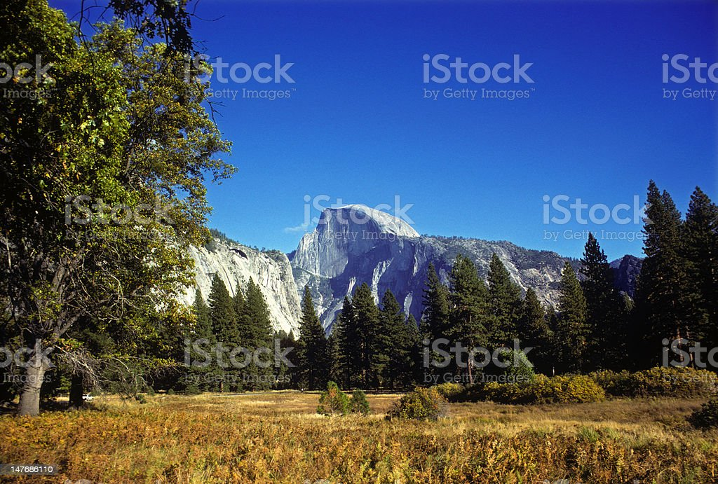 Halfdome (Yosemite), circa 1978 stock photo