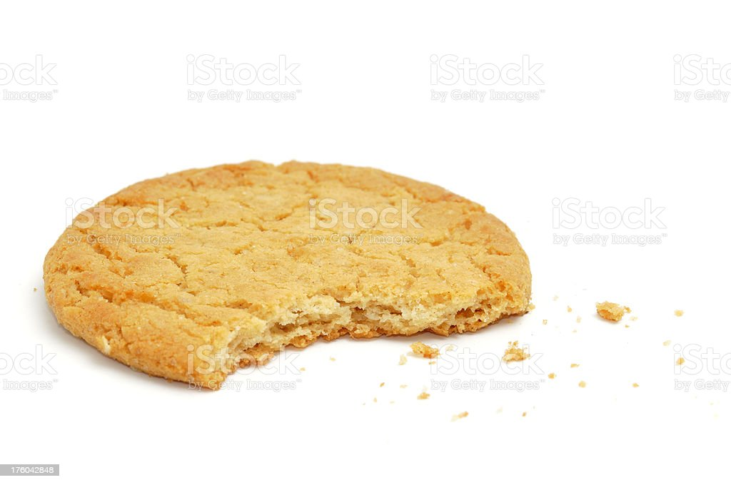 Half-eaten Cookie royalty-free stock photo