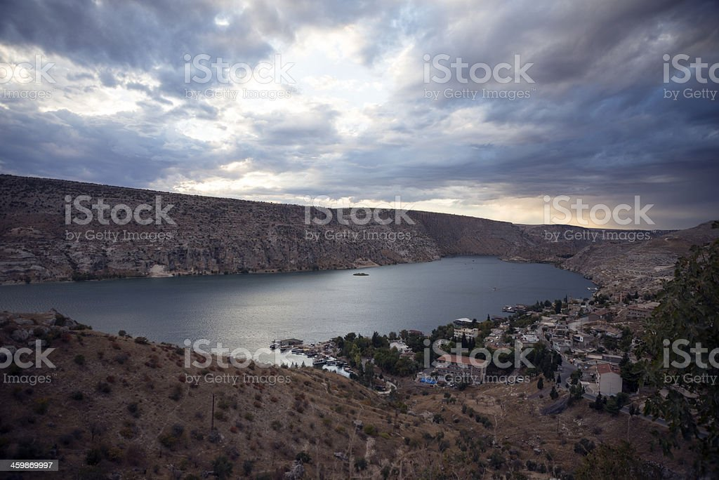 Halfeti City royalty-free stock photo