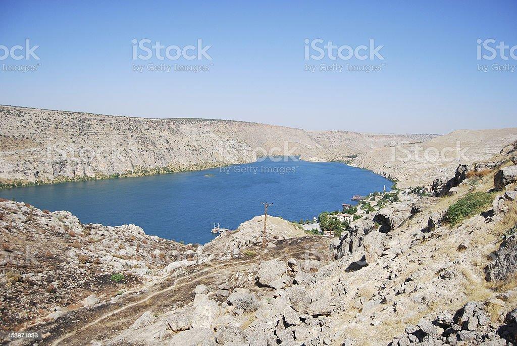Halfeti Village stock photo