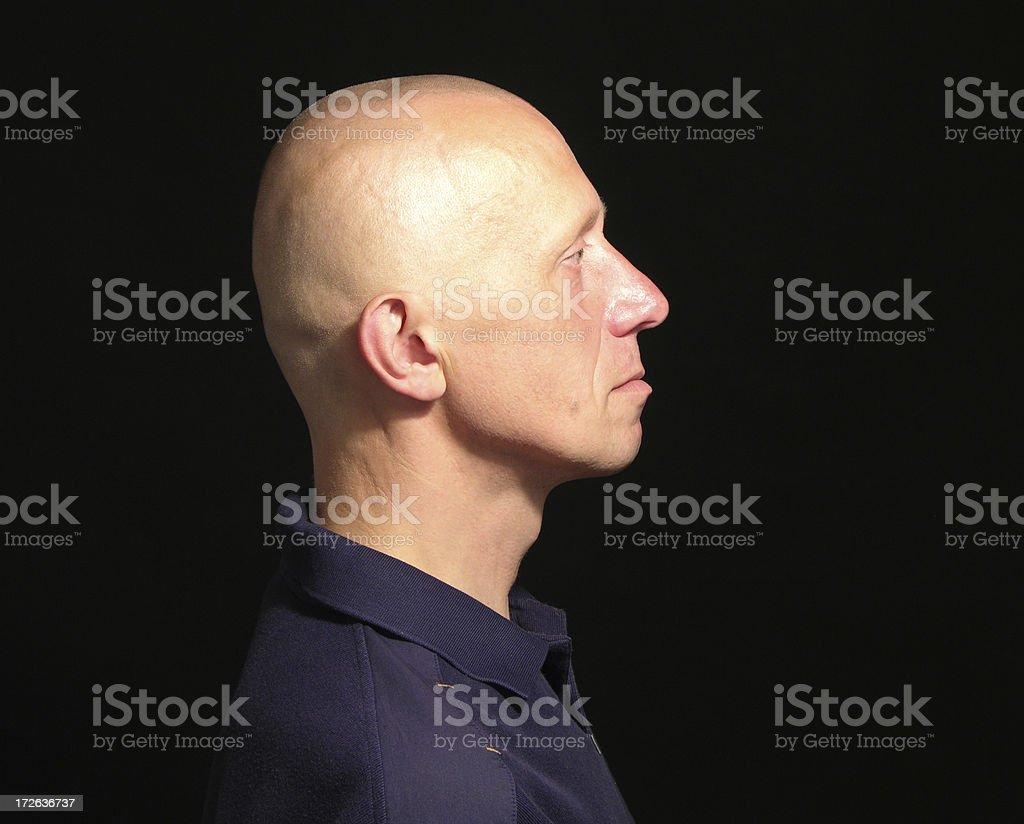 Half-faced stock photo