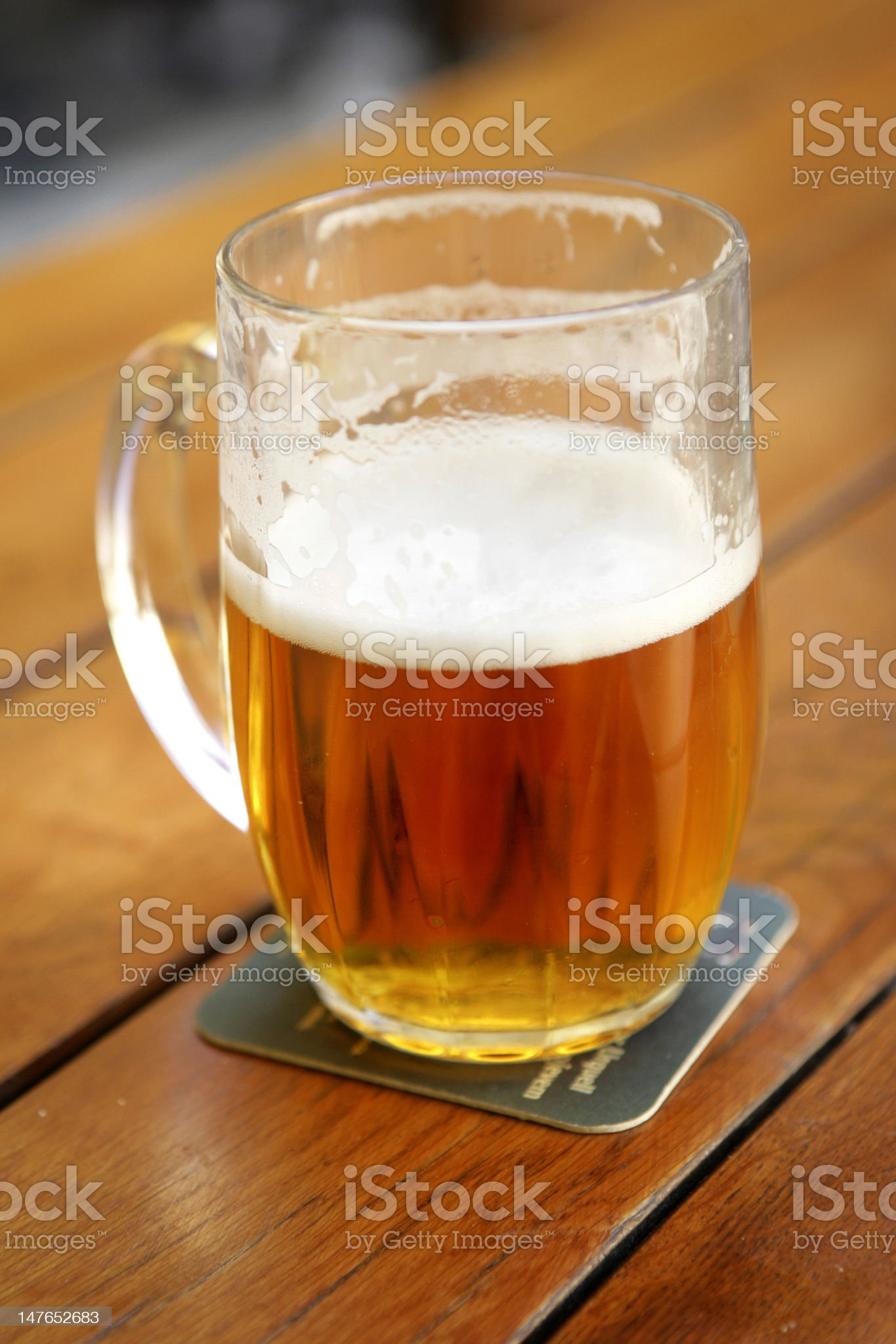 Half-full Beer royalty-free stock photo